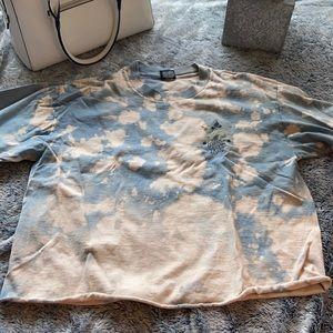 Vintage Stussy Crop Reverse Bleach Dye Tee